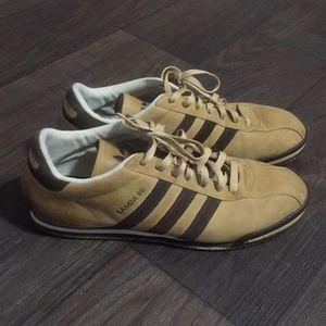 Adidas Originals Samba 85 with Tan and Brown Suede